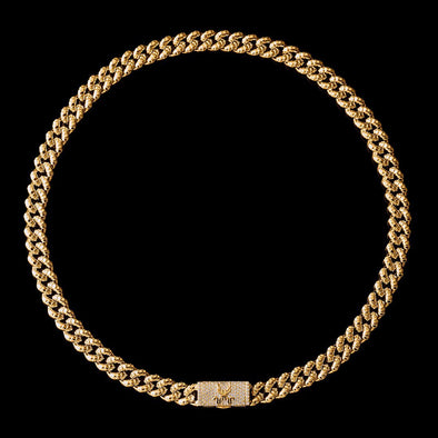 WONG-18K Gold Dragon Box Clasp Miami Cuban Curb Chain (Pre-Sale)