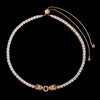 WONG-18K Gold Iced Adjustable Double Dragon Tennis Chain (Ship on Mar. 10th)
