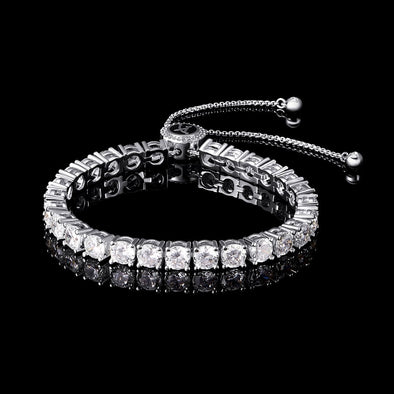 Aporro A® Iced Adjustable Tennis Bracelet