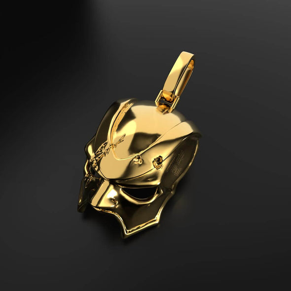 18K Solid Gold Aporro X 18karat Maske Necklace