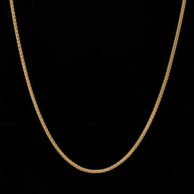 2.5mm 14K Gold Franco Chain
