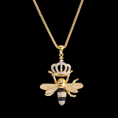14K Gold Iced Queen Bee