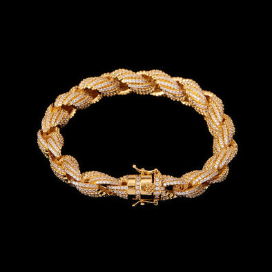 10mm Iced Rope Bracelet