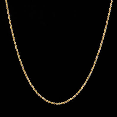 2.5mm 14K Gold Rope Chain