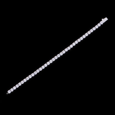 5mm White Gold Iced Women Tennis Anklet