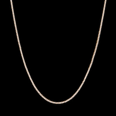 "24"" 1.9mm 14K Gold Single Row Tennis Chain"