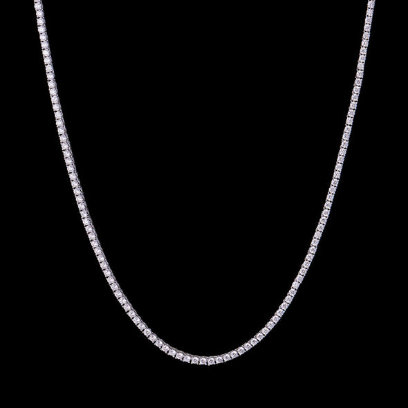 3mm New White Gold Iced Tennis Chain