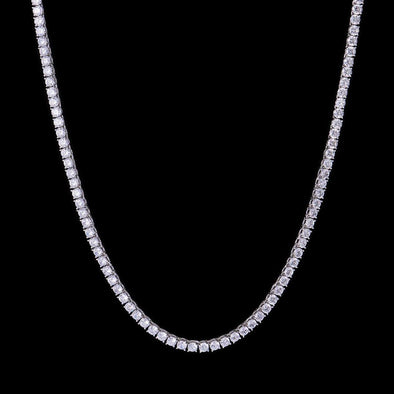 5mm White Gold Iced Tennis Chain
