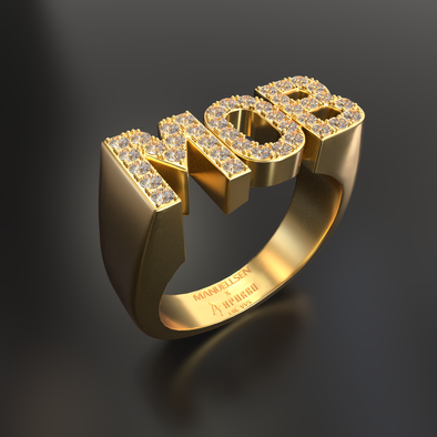 Manuellsen X Aporro 14K Solid Gold & 0.38ctw Diamond MOB Ring