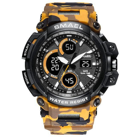 Military-style multifunction sports watch