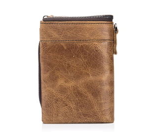 Men's Embossed Short Genuine Leather Wallet - GiftWorldStyle - Luxury Jewelry and Accessories