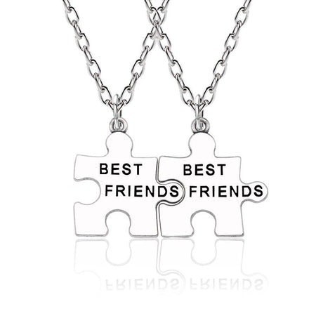 Geometric Necklaces For 2 Pcs Best Friends With Chain - GiftWorldStyle - Luxury Jewelry and Accessories