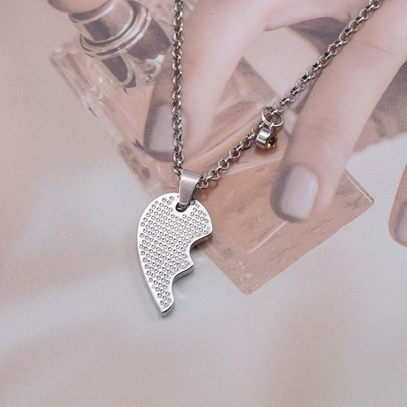 Two Pieces Big Little Sister Necklace Heart With Rhinestones - GiftWorldStyle - Luxury Jewelry and Accessories