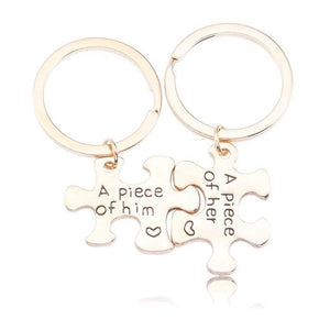 2 Pcs Geometric Letter Necklace Keychain For Women Best Friend Forever Keepsake Couple Set Pendants