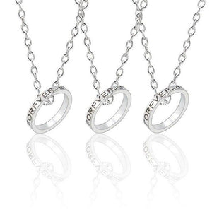 Three Pieces Round Best Friends Necklace - GiftWorldStyle - Luxury Jewelry and Accessories