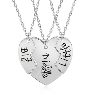 3 Pcs Silver Broken Heart Necklace For Sisters, Friends - GiftWorldStyle - Luxury Jewelry and Accessories
