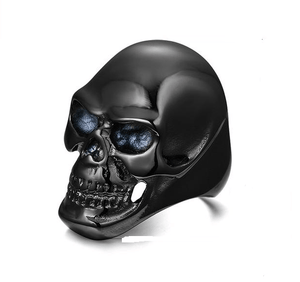 41mm Skull Skeleton Head Punk Ring - Stainless Steel