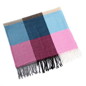 60cm*200cm Winter Scarf For Women Warm Big Long Scarf Female Plaid Cashmere Thick Scarves
