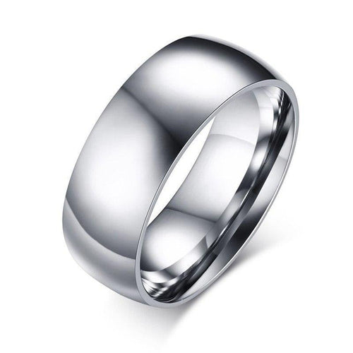 8mm Basic Wedding Ring Gold And Silver Tone Stainless Steel