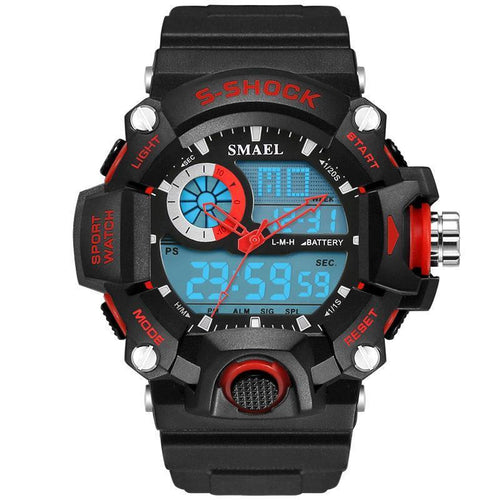 Analog LED Digit Sport Watches Men Waterproof Shock Dual Time Casual Military