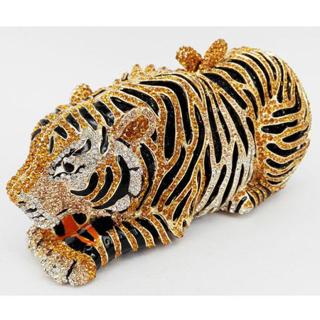 Animal Tiger Luxury Crystal Bag In Tiger Shape With Chain - GiftWorldStyle - Luxury Jewelry and Accessories