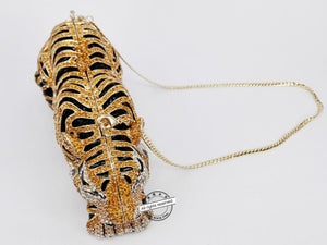 Animal Tiger Luxury Crystal Evening Bag Leopard Cocktail Party Purse Handbags Women Clutch Purse