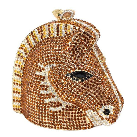 Zebra Crystal Bag With Diamond, Alloy Case And Hollow - GiftWorldStyle - Luxury Jewelry and Accessories