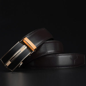 Automatic Buckle Genuine Leather Men's Belt