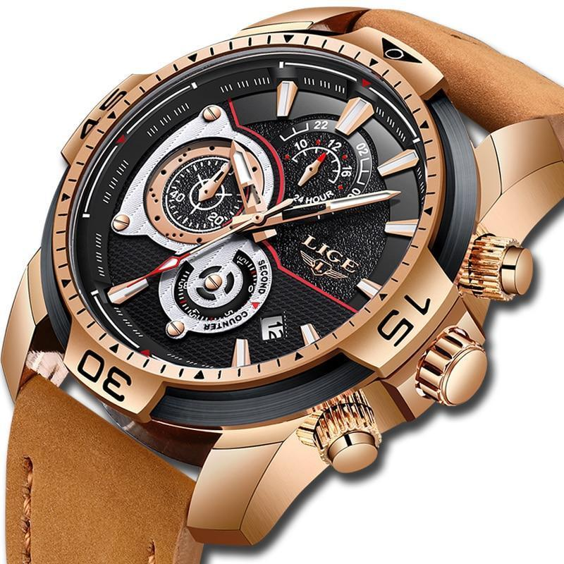 Automatic Date Quartz Waterproof Sport Watch