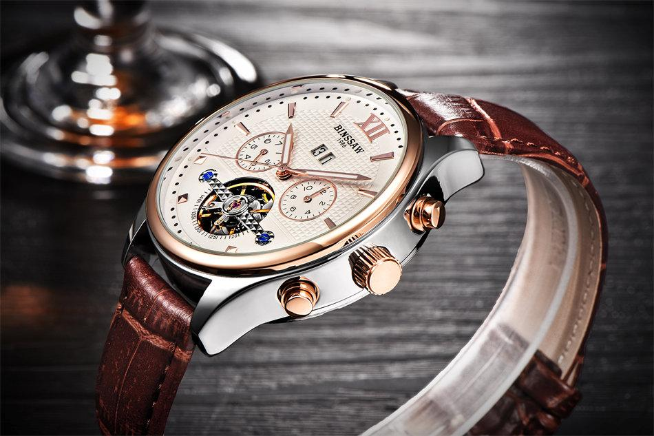 Automatic Mechanical Watch Tourbillon Leather Sports Watches - GiftWorldStyle - Luxury Jewelry and Accessories