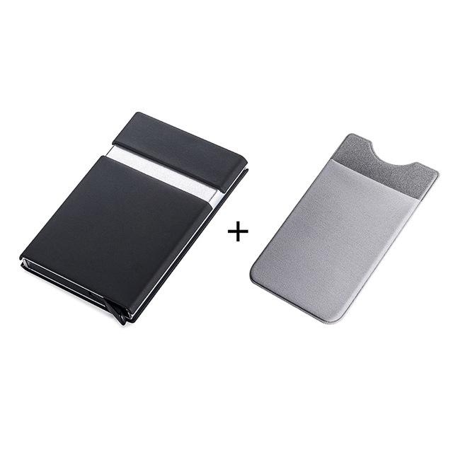 Automatic Pop Up Credit Card Holder Sleeve With RFID Blocking Front Pocket Wallet