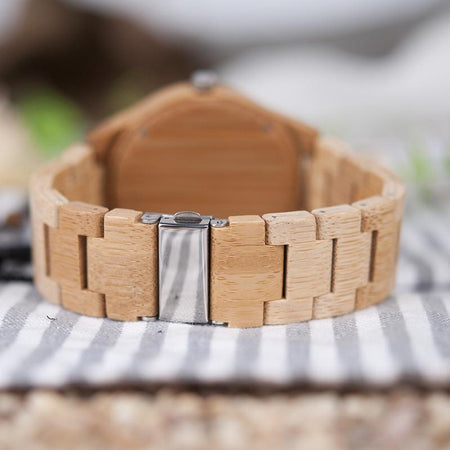 Bamboo Lovers Watches Timepieces Wood Band Quartz Wristwatch Lovers - GiftWorldStyle - Luxury Jewelry and Accessories