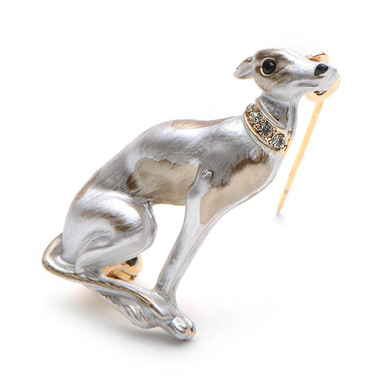 Banquet Enamel Dog Brooches Alloy Suits Sweater Hat Animal Brooch Pins Scarf Buckle