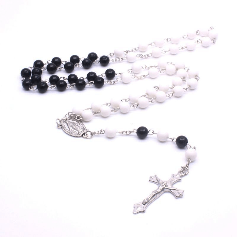 Black Natural Beads Necklace With Long Chain - GiftWorldStyle - Luxury Jewelry and Accessories