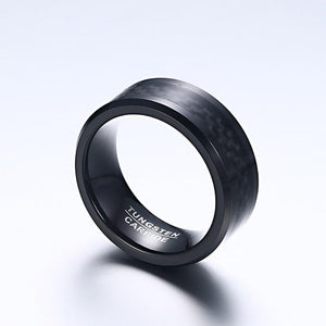 Black Tungsten Carbide Ring For Men - 8mm
