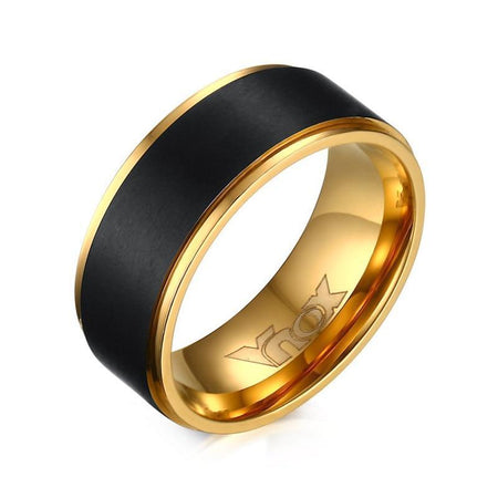 Black Wedding Band Ring For Men - Stainless Steel - GiftWorldStyle - Luxury Jewelry and Accessories