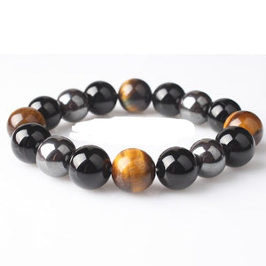 Natural Hematite Bracelet With Obsidian Tiger Eye, Stone - GiftWorldStyle - Luxury Jewelry and Accessories