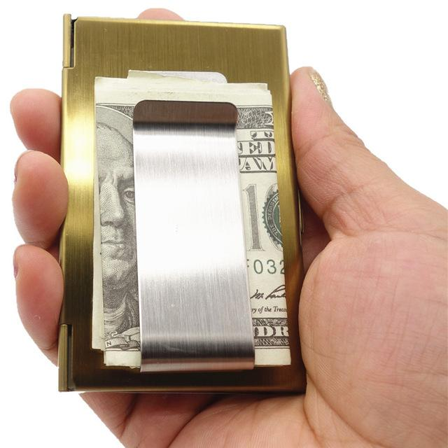 Business Card Case Stainless Steel Card Case Unisex  Money Clip