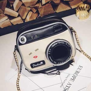 Camera Shaped Leather Casual Ladies Shoulder Bag - GiftWorldStyle - Luxury Jewelry and Accessories