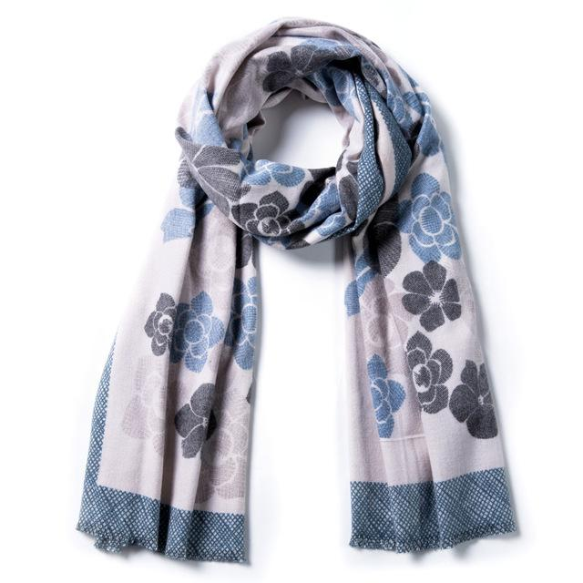 Cashmere Scarf Women Winter Scarves Wrap Foulard Scarf