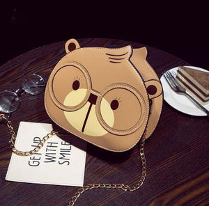 "Casual ""Bear"" PU Leather Ladies Shoulder Bag - GiftWorldStyle - Luxury Jewelry and Accessories"