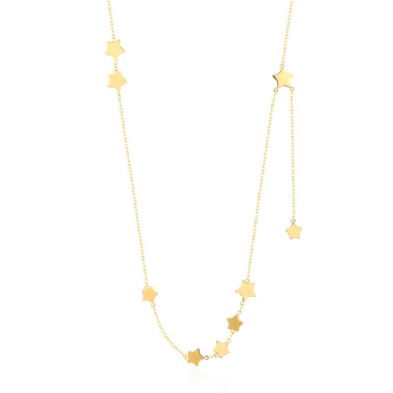 Beautiful 9 Stars Necklace For Women With Titanium Steel - GiftWorldStyle - Luxury Jewelry and Accessories