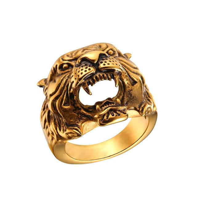 Punk  Tiger Head Ring For Men With Hollow And Copper Metal - GiftWorldStyle - Luxury Jewelry and Accessories