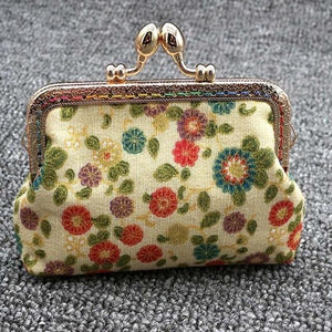 Cotton Wallet - Flower Printing Purse
