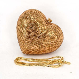 Crystal Clutch Bags Red Heart Clutch Evening Bag Formal Luxury Crystal Bags Woman Bags
