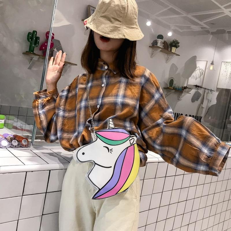 Cute Smile Unicorn Pu Leather Shoulder Mini Bag - GiftWorldStyle - Luxury Jewelry and Accessories