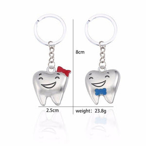 Cartoon Cute Teeth Couple Keychains - Set - GiftWorldStyle - Luxury Jewelry and Accessories