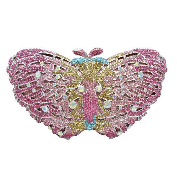 Butterfly Diamond Evening Bag From Diamonds With Chain - GiftWorldStyle - Luxury Jewelry and Accessories