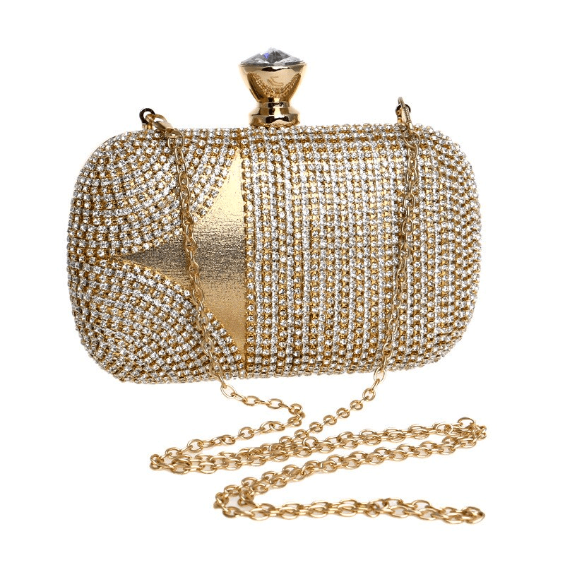 Diamonds Day Clutch Evening Bag With Chain - GiftWorldStyle - Luxury Jewelry and Accessories