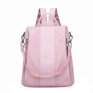 Double Zipper School Oxford Backpack - Cell Phone Pocket - GiftWorldStyle - Luxury Jewelry and Accessories